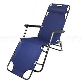 Reclining Folding Deck Chair Lounge Beach Camping Sun Portable Outdoor Fishing
