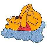 Iron on Patches - Winnie The Pooh 'Clouds' Disney - Yellow - 8,6x5,9cm - Application Embroided Patch Badges