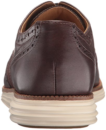 Cole Haan Men's Original Grand Wing Ox Oxford, Chestnut Leather/Brown Plaid/Ivory, 13 M US