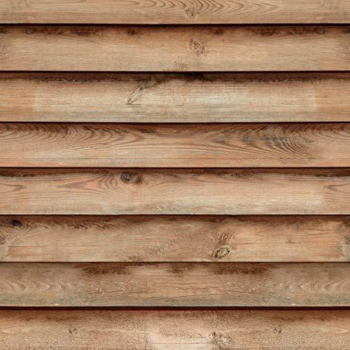 decomonkey Fototapete   Tapetenrolle 10 m Tapete Vliestapete Deko Panel Modern Design Wanddeko Wandtapete   Holzoptik Bretter