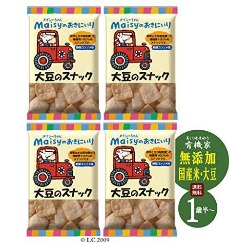 メイシーちゃん(TM)のおきにいり 大豆のスナック 35g×4個★送料無料コンパクト★うるち米ときな粉で作った生地を植物油でサクッと揚げた香ばしいスナック。野菜コンソメならではの風味を活かしたおいしさ。