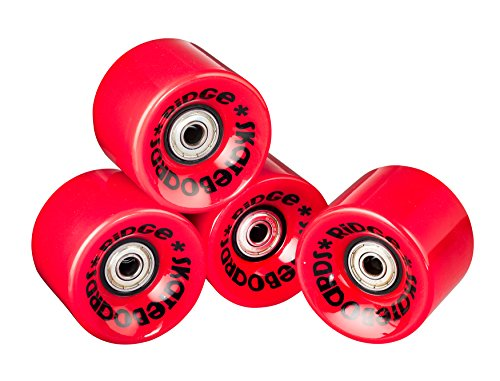 Ridge Skateboard Rollen Cruiser, red, 59 mm, r-logo-cw