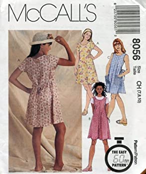 McCall s Pattern 8056 Girls  Dress or Jumper Size 10-12-14