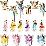16 Piezas Figuritas de Hadas Accesorios de Hadas de Jardín Decoración de Hadas en Miniatura Estatua de Hada de Jardín para Decoración de Hadas de Hogar Jardín al Aire Libre