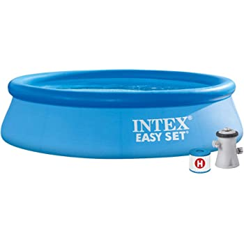 Intex 28122NP Piscina hinchable, con depuradora, 3853 litros ...