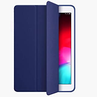 Kenke iPad Air 2 Case, Smart Case Silicone Soft Cover Synthetic Leather iPad air 2 Cover 9.7 inch with Auto Sleep/Wake Function [Light Weight] for Apple iPad 6 case(Navy)