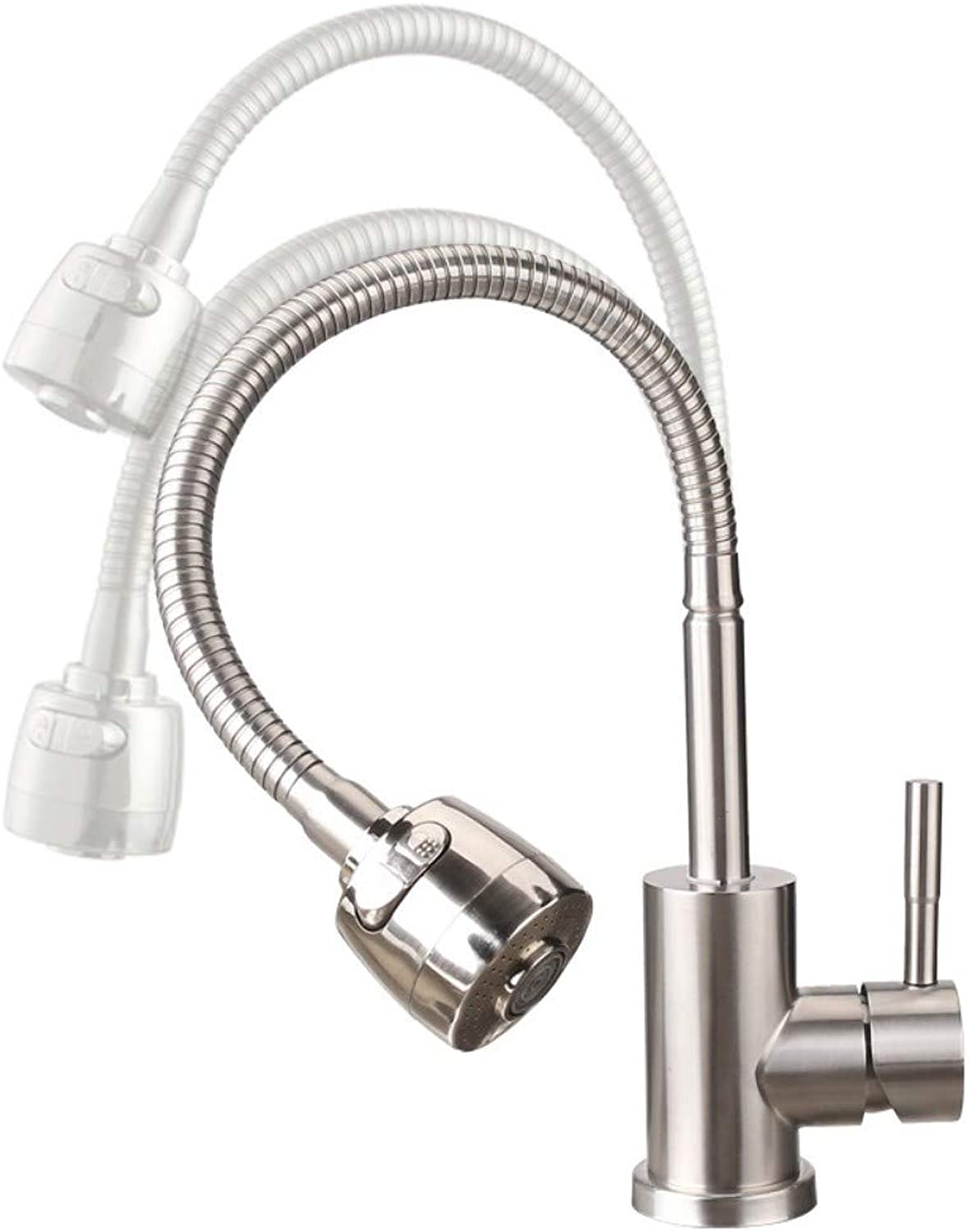 Stainless Steel Faucet Universal redating Hot and Cold Faucet Sink Faucet