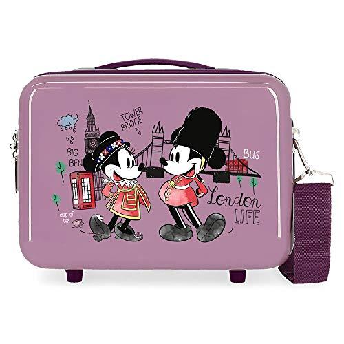 Disney Mickey Let´S Travel Neceser Adaptable Morado 29x21x15 cms Rígida ABS 9,14L