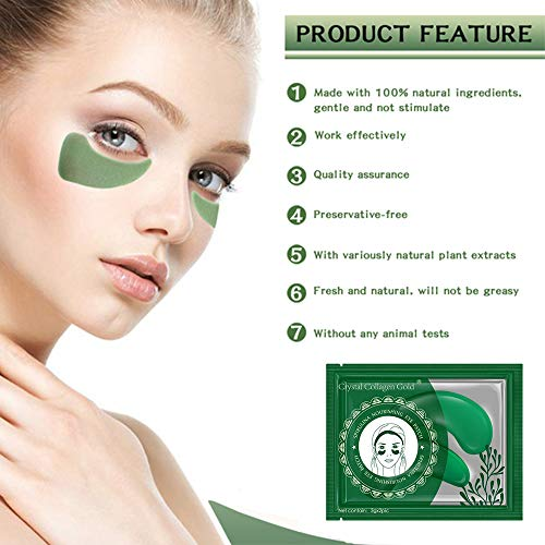 51GN2CNV0YL - Under Eye Mask, POSTA 20 Pair Collagen Eye Treatment Gels Eye Patches, With Anti-Aging Hyaluronic Acid For Moisturizing & Reducing Dark Circles Puffiness Wrinkles Fine Lines