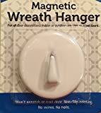 White Magnetic Wreath Hanger Holder Hook - For Steel Doors - No Nails or Wires! Holds up to 6 pounds.