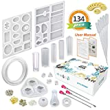 LET'S RESIN Silicone Resin Jewelry Molds,Epoxy UV Resin Casting Molds Kit,16 Pcs Silicone Molds for Resin Art,...