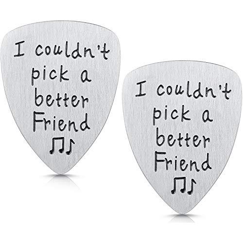2 Pezzi Plettri per Chitarra Regalo degli Amici Plettri per Chitarra in Acciaio per Musicista Amici Regalo di Compleanno- I Couldn't Pick A Better Friend