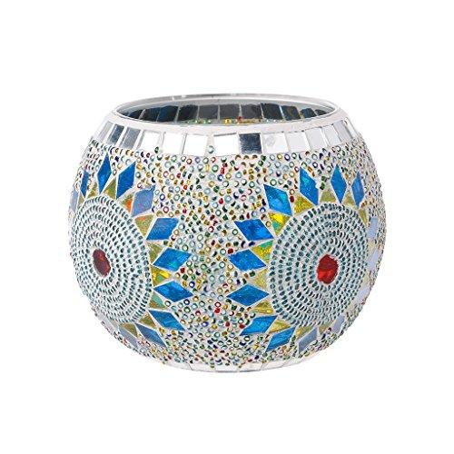 Yunso Fleur photophores Verre Europe Style mosaïque bougeoirs Cylindre votive Décoration de tasses