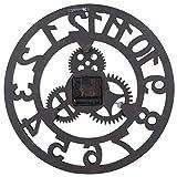 Socobeta Reloj de ganso industrial, exquisito, artesanal, reloj de pared para casa, restaurante para adultos