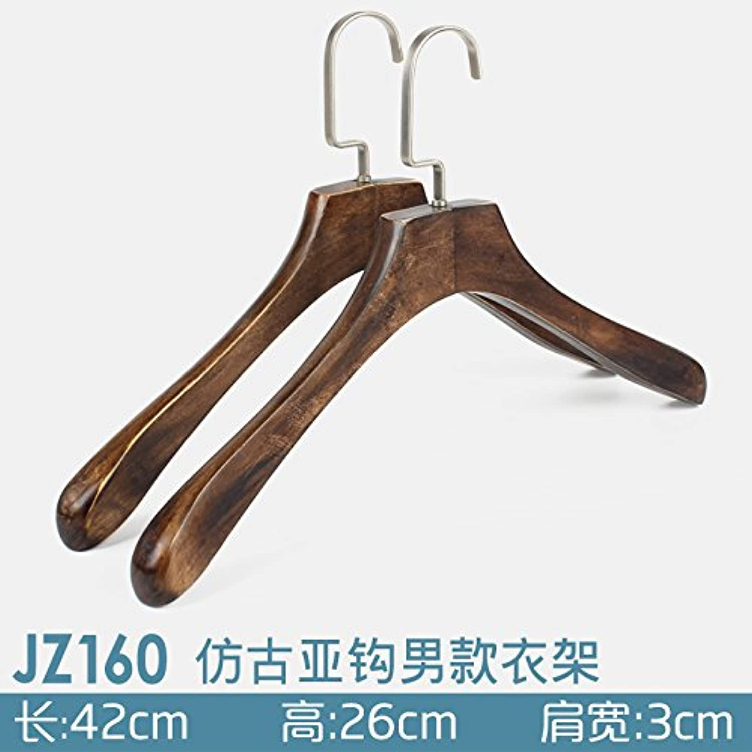U-emember Home Suits Non-Slip Wooden Coat Hangers Wooden Poles Adult Clothing And Non-Marking Solid Wood Hangers Coat Hanger, 20, orange Jz160-4333 Thick 2.9