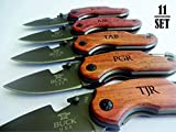 11 SET Personalized Pocket Knife Perfect Gift for Groomsman Gift for Dad Husband Brother Boyfriend Groom Groomsmen