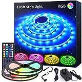32M(105ft) LED Strip Lights with RF Remote, Novostella Colour Changing Lighting Strips Full Kit, Multi-Mood...