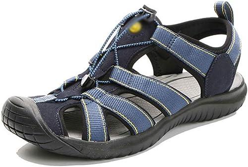 Sandalias al Aire Libre para hombres Playa de Ocio Sandalias de Agua Zapaños con Suela de Goma .Zapaños de Moda