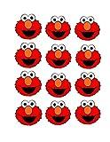 Set of (24) - 2' Elmo Birthday, Elmo Party, Elmo Stickers, Sesame Street Birthday, Sesame Street Favors, Elmo Birthday Party, Elmo, Elmo DIY