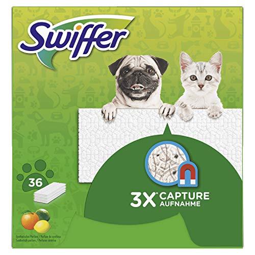 Swiffer Droogdoeken voor dieren, 36 eenheden, vangt stof op, 2 stuks