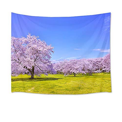 LB 自然風景タペストリー 桜の花 美し景色 オシャレ壁掛け 装飾布 インテリア 多機能 リビング お店 個性ギフト 人気 新年祝い (150x100cm)