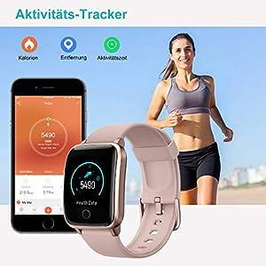 Willful Smartwatch,Smartwatch für Damen Herren,Wasserdicht IP68 Fitnessuhr Fitness Tracker mit Pulsuhr,Schrittzähler,Fitness Armband,11 Trainingsmodi Uhr,Anruf SMS SNS Beachten für iOS Android Handy