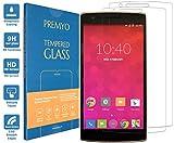 PREMYO 2 Stück Panzerglas Schutzglas Bildschirmschutzfolie Folie kompatibel für OnePlus One Blasenfrei HD-Klar 9H 2,5D Gegen Kratzer Fingerabdrücke