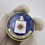 YPZMYGQ Moneda Conmemorativa de la Agencia Central de Inteligencia de los Estados Unidos Moneda Conmemorativa del desafío del coleccionista chapada en Oro