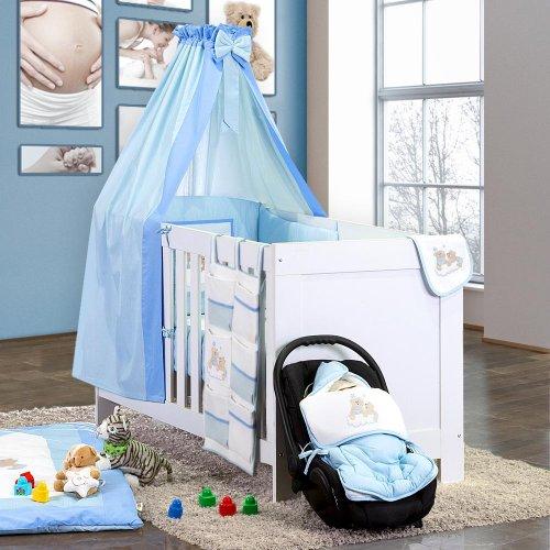7-liter. Sängpaket glädje i blått inkl. rullstol och himmelsstång