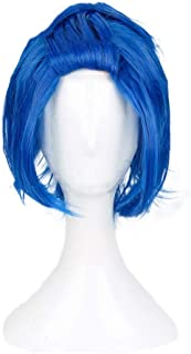 HLZG Levy Mcgarden Wig Fairy Tail Cosplay Costume Short Blue Hair Anime Wig for Men