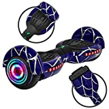 Rawrr Hoverboard Self Balancing Electric Scooter with LED Wheel Lights and Bluetooth Speakers for Kids and Adults, UL2272 Certified, Unique Pattern (Blue)