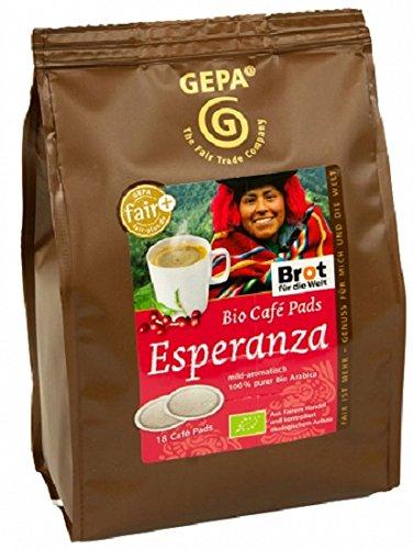 Gepa Bio Kaffee Pads Esperanza, 1 Karton mit 6 Pack ( 6 x 126g ) 108 Pads. Grundpreis pro 100g: 3,29€
