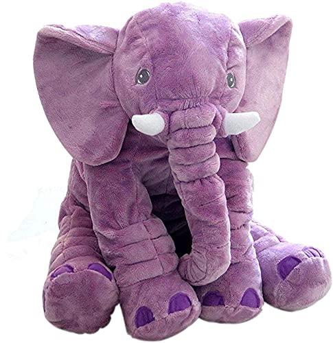 Cuscino per bambini a forma di elefante, regalo per neonato, colore grigio, blu, B