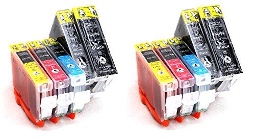 Silvertrade - 10 x XL Druckerpatronen mit CHIP & Füllstandanzeige kompatibel zu PGI-5BK CLI-8M CLI-8Y CLI-8C CLI-8BK. Sie erhalten 2 x kompletter Satz Patronen für Canon Pixma MP500 MP510 MP520 MP530 MP600 MP600R MP610 MP800 MP800R MP810 MP830 MP960 MP970 MX700 MX850 iP4200 iP5200