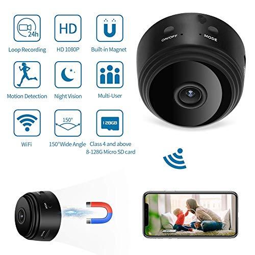 NP 1080P Wifi-camera, draagbaar, met nachtzicht, nachtzicht, geactiveerd voor thuis, kinderen, huisdieren