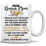 To My Bonus Mom, Bonus Mom Mug, Mothers Day Gifts Stepmom, Coffee Mug, Tea Cup 11oz White Mug,...