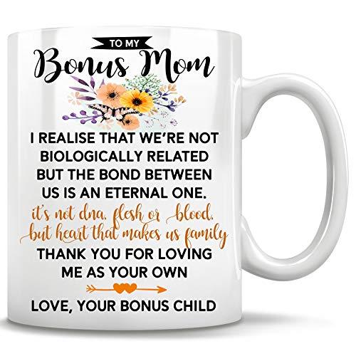 To My Bonus Mom, Bonus Mom Mug, Mothers Day Gifts Stepmom, Coffee Mug, Tea...