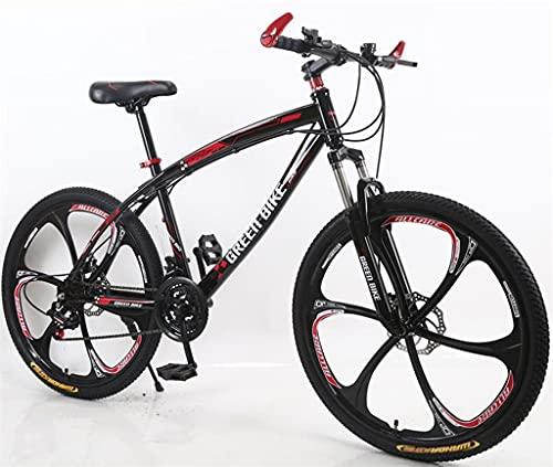 Niños niñas bicicletas montaña premium aleación aluminio unisex bicicletas bicicletas montaña 26 pulgadas y 21 velocidades con suspensión horquilla frenos disco doble una rueda y frenos disco.