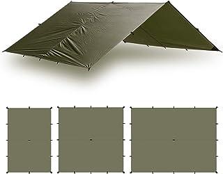 Aqua Quest (アクアクエスト) Guide 超軽量 防水 タープ 3x2, 3x3, 3x4, 4x6m グリーン/オリーブ (オリーブ, 3 x 4 m)