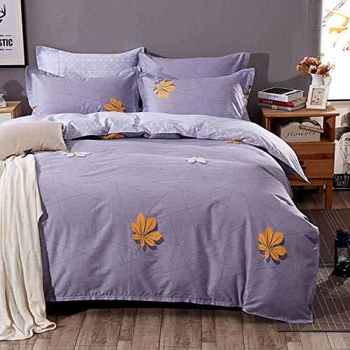 Fulinmen 3D Print Duvet Cover Set Single,Cotton 3D Four-Piece Bedding Student Dormitory-f2.0m