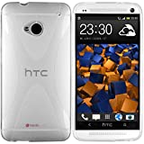 mumbi X-TPU Funda compatible con HTC One, no HTC One(M8), blanco claro