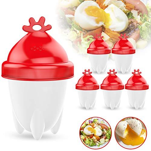 Eierkocher, 6 Stück Eierkocher Hard & Soft Maker mit Eierseparator...