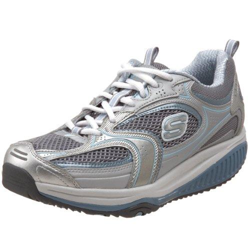 Skechers 12320 SLBL Shape-ups Xf Accelerators, Damen Sneaker, Silber (SLBL), EU 38.5