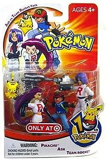 Hasbro Pokemon 10th Anniversary Ash vs Team Rocket Pack Mini Figure 4-Pack [Pikachu, Ash & Team Rocket]