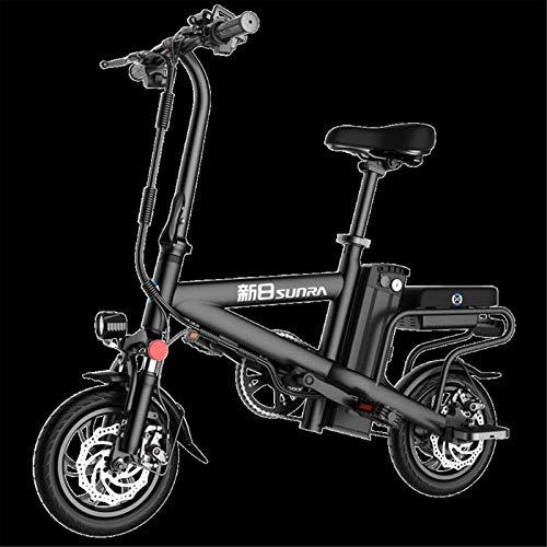 Bicicletas Eléctricas, Bicicletas rápidas y Eléctrica en adultos de 12 pulgadas ruedas ligeras y material de aleación de aluminio plegable bicicleta eléctrica con Bicicletas Pedales 48V de iones de li