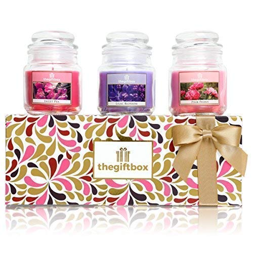 Silverglow Scented Candle Gift Set With 3 Candles In A Jar Make Ultimate
