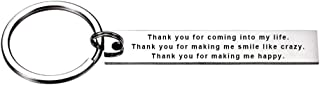 Thank You for Coming into My Life Inspirational Dog Tag Pendant for Men Women Keychain Gift