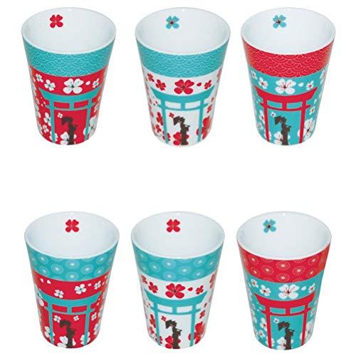 Set expresso 6 tasses Sakura
