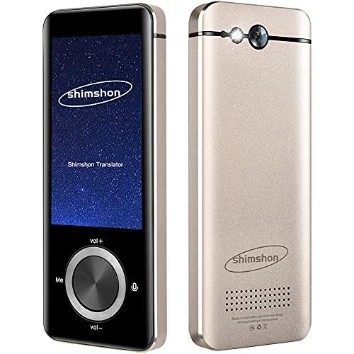 Language Translator Device Offline Translator with Instant Photo Translation Portable Two-Way Voice Interpreter, 109 Languages Smart Translation in 0.5 Sec   Bluetooth   WiFi (Space Gold)