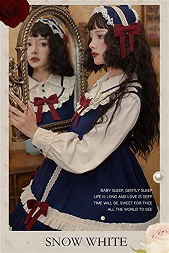 RSDZ New Lolita Durmiente Cuento de Hadas Original Viento Rústico Viento Viento Lolita Princess Vestido The Best for You (Color : Blue, Size : L)